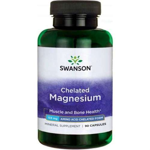 Swanson Chelated Magnesium 13mg 90 capsules