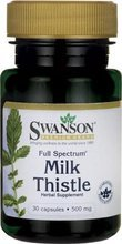 Swanson Full Spectrum Milk Thistle (Ostropest Plamisty) 500mg 30 kapsułek